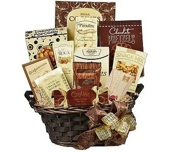 Chocolate & Treats Basket in Timmins ON, Timmins Flower Shop Inc.