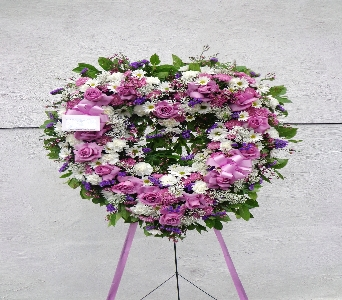White and Purple Open Heart  in Brooklyn NY, David Shannon Florist & Nursery