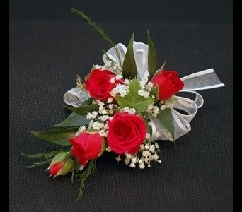Red Rose Corsage in Aurora ON, Caruso & Company