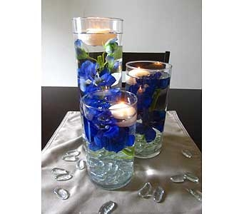 Illuminated Cylinder Trio in Middletown DE, Forget Me Not Florist & Flower Preservation