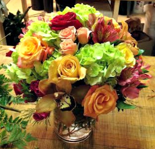 Orange, Hot Pink & Green Bouquet  in Lemont IL, Royal Petals
