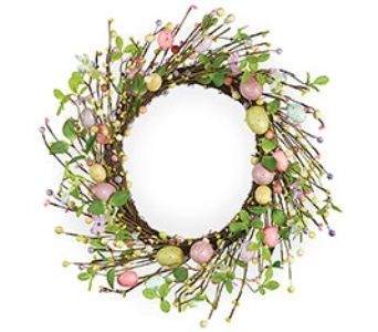 Easter Egg Wreath  in Princeton, Plainsboro, & Trenton NJ, Monday Morning Flower and Balloon Co.