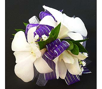 White Dendrobium Orchid Corsage in Mesa AZ, Watson Flower Shops