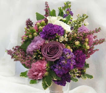 Purple Wedding Flowers in Kennewick WA, Heritage Home Accents & Floral