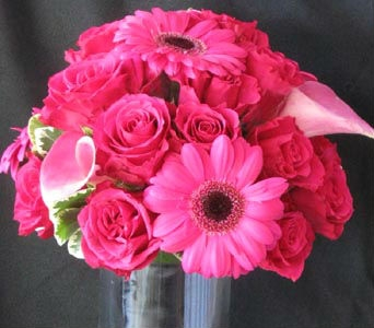 Bright Pink Bridal Bouquet in Kennewick WA, Heritage Home Accents & Floral