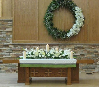 Communion Table Display in Kennewick WA, Heritage Home Accents & Floral
