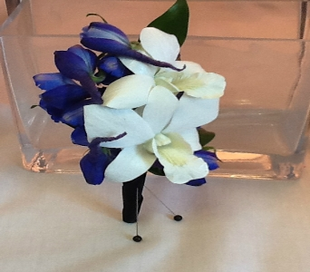 White Orchid Boutonni�re in Greenville SC, Expressions Unlimited