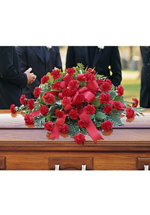 Regards, Tribute Casket Spray in Smithtown NY, James Cress Florist