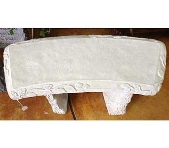 Garden Bench-plain in Brownsburg IN, Queen Anne's Lace Flowers & Gifts