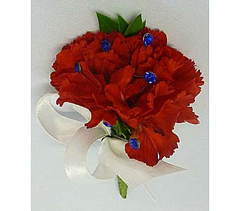 Red Mini Carnation Boutonniere in Mesa AZ, Watson Flower Shops