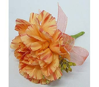 Orange Carnation Boutonniere in Mesa AZ, Watson Flower Shops