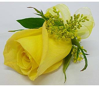 Yellow Rose Boutonniere in Mesa AZ, Watson Flower Shops