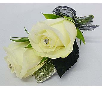 White Sweetheart Rose Boutonniere in Mesa AZ, Watson Flower Shops