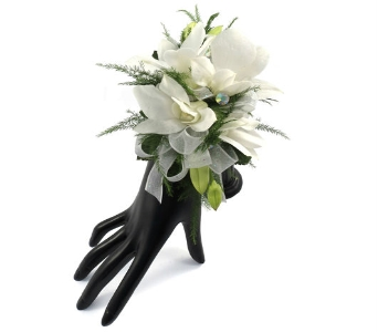 Five Dendrobium Orchid Wrist Corsage in Southfield MI, Thrifty Florist