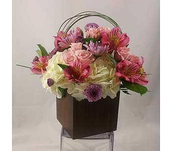 Bamboo Box Pink in Raleigh NC, North Raleigh Florist