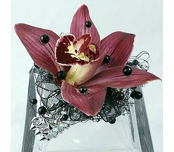 Rocker Chic Corsage in Raleigh NC, North Raleigh Florist