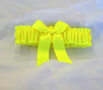 Neon Yellow Garter in Hales Corners WI, Barb's Green House Florist
