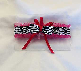 Hot Pink Zebra Print Garter in Hales Corners WI, Barb's Green House Florist