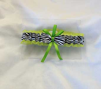 Lime Green Zebra Print Garter in Hales Corners WI, Barb's Green House Florist