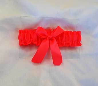 Neon Coral Garter in Hales Corners WI, Barb's Green House Florist