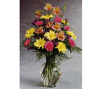 Seasonal Mixed Arrangement in Rock Island IL, Colman Florist