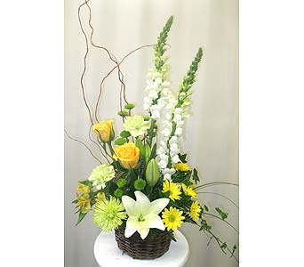 Cheerful Basket Floral - Designed One-Sided in Wyoming MI, Wyoming Stuyvesant Floral