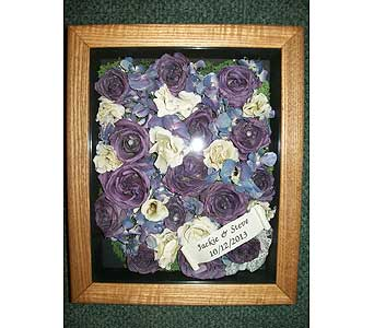 8x10 Oak Shadowbox in Middletown DE, Forget Me Not Florist & Flower Preservation