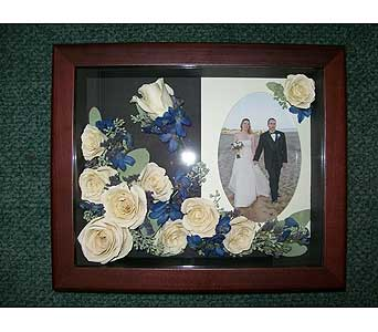 8x10 Cherry Shadowbox in Middletown DE, Forget Me Not Florist & Flower Preservation