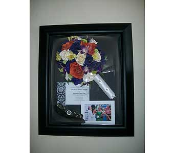 16x20 Domed Frame in Middletown DE, Forget Me Not Florist & Flower Preservation