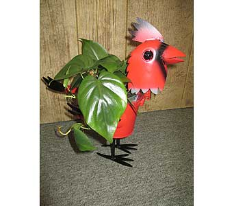 Cardinal Planter in Derby KS, Mary's Unique Floral & Gift