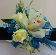 Prom Wristlet w/ Roses and Cymbidium Orchid in Utica NY, Chester's Flower Shop And Greenhouses