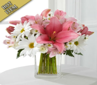 Pretty And Pink -  with Free Vase in Cohasset MA, ExoticFlowers.biz
