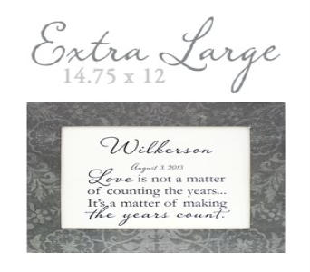 Personalized Frame Extra Large in Santa Claus IN, Evergreen Flowers & Decor
