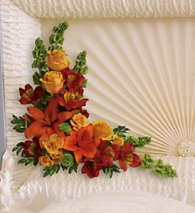 Island Sunset Casket Insert in Oklahoma City OK, Capitol Hill Florist and Gifts