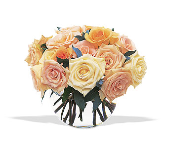 Perfect Pastel Roses by Petals & Stems in Dallas TX, Petals & Stems Florist