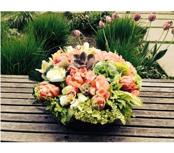 Coral Bliss Bouquet in Bellevue WA, CITY FLOWERS, INC.