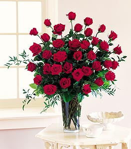 Three Dozen Red Roses in Dallas TX, Petals & Stems Florist