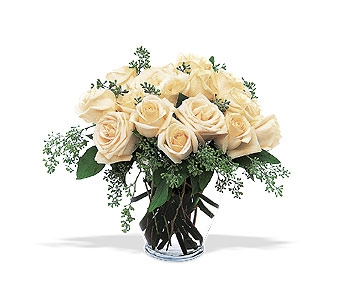 White Roses by Petals & Stems in Dallas TX, Petals & Stems Florist