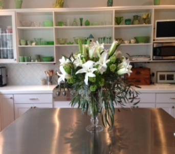 Large White Lily Vase in Ambridge PA, Heritage Floral Shoppe