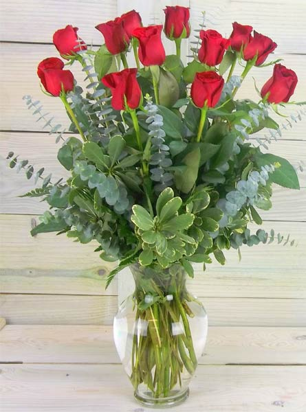 One Dozen Premium Roses in Clarks Summit PA, White's Country Floral