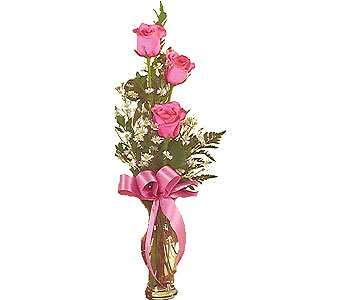 3 rose bud vase by Petals & Stems in Dallas TX, Petals & Stems Florist