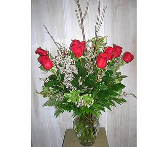 1 Dozen Premier Red Roses in Dallas TX, Petals & Stems Florist
