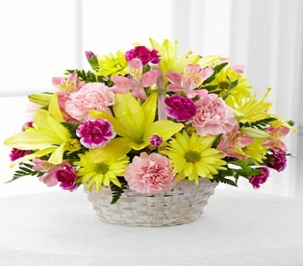 BASKET OF CHEERFUL LOVE BOUQUET in Vienna VA, Vienna Florist & Gifts