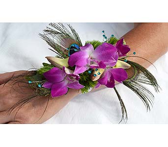 Flirty Feathers Corsage in Dearborn Heights MI, English Gardens