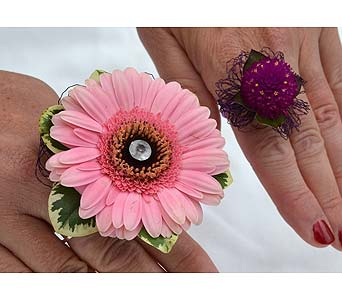 Edgy and Different Ring Corsage in Dearborn Heights MI, English Gardens