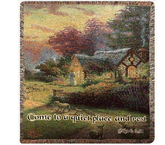 Thomas Kinkade The Good Shepherd's Cottage in Troy OH, Trojan Florist & Gifts