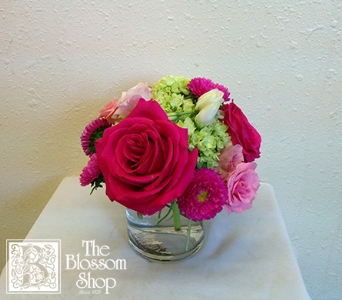 Posey Bunch - Pink & Green in Charlotte NC, The Blossom Shop