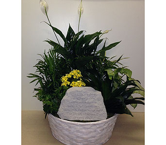 Those We Love Garden Stone Planter- 12 inch basket in Wyoming MI, Wyoming Stuyvesant Floral