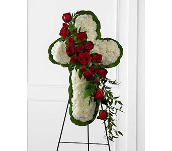 FTD Floral Cross Easel in Ajax ON, Reed's Florist Ltd