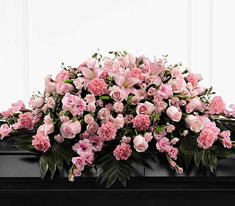 FTD Sweetly Rest Casket Spray  in Ajax ON, Reed's Florist Ltd